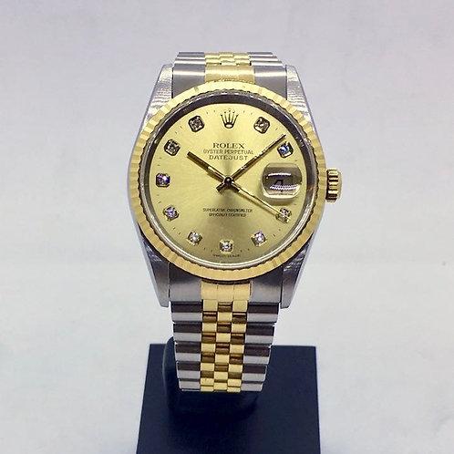 Datejust 36 Guld/stål m. diamanter