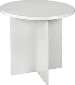 """Niche Modern Round Table 30"""" White Wood Grain"""