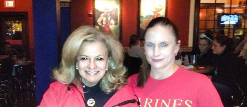 Dr. Vivianne Wersel, President with MAJ Lisa Doring (Ret.),  Parliamentarian