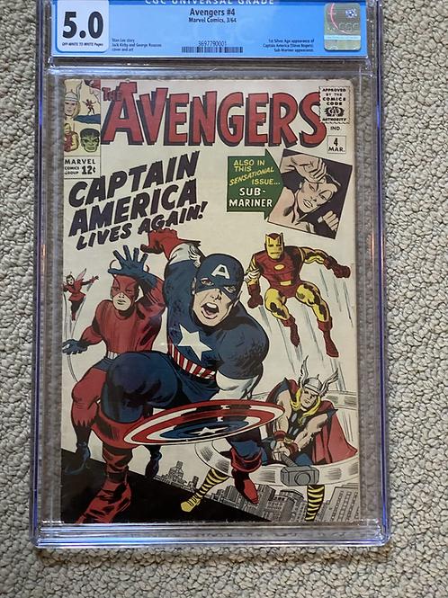 Avengers 4 CGC 5.0