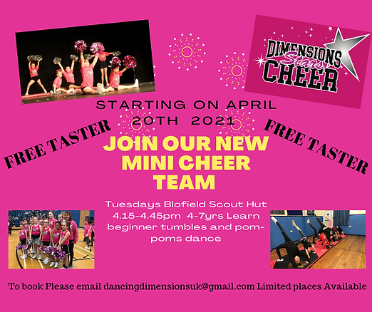 Copy of Copy of Join our new mini cheer