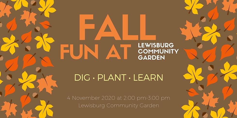 Fall Fun at Lewisburg Community Garden