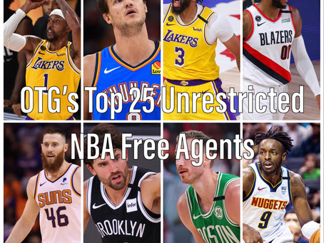 OTG's Top 25 Unrestricted NBA Free Agents