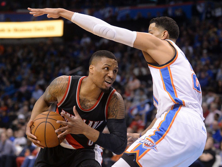 Blazers Too Much For Visiting Thunder