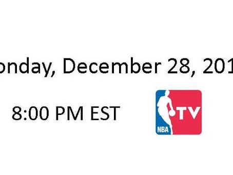 NBA Games of the Week (Dec 28 – Jan 3)