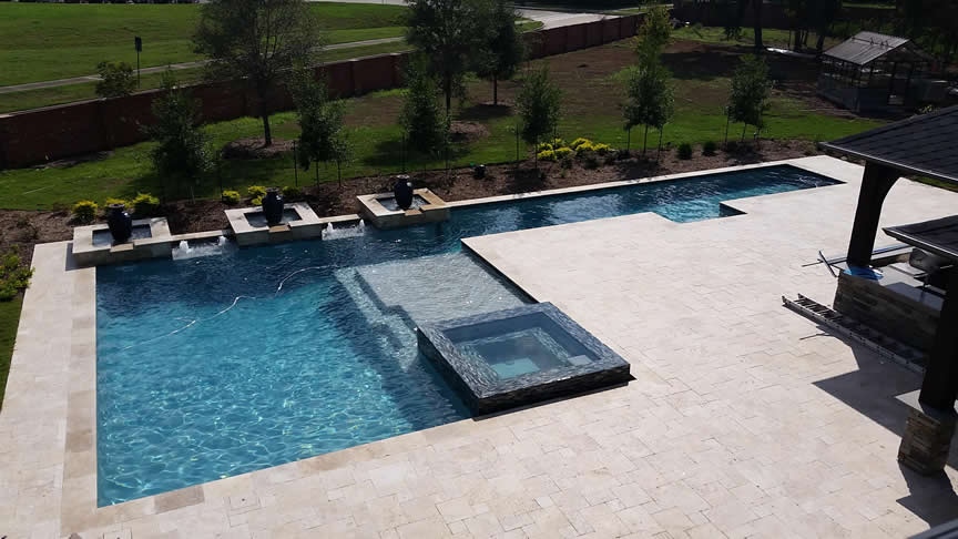 Houston Pool Builder Travertine