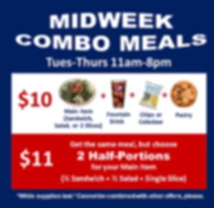 Midweek Combo Meals