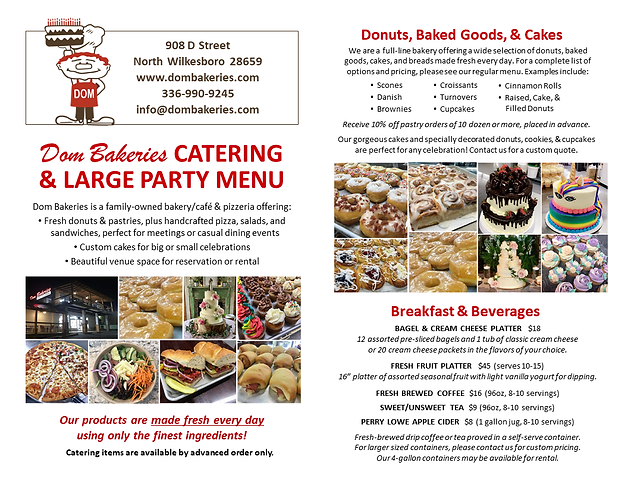 Catering Menu Page1
