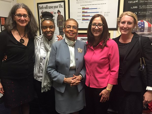 On Capitol Hill with Eleanor Holmes Norton