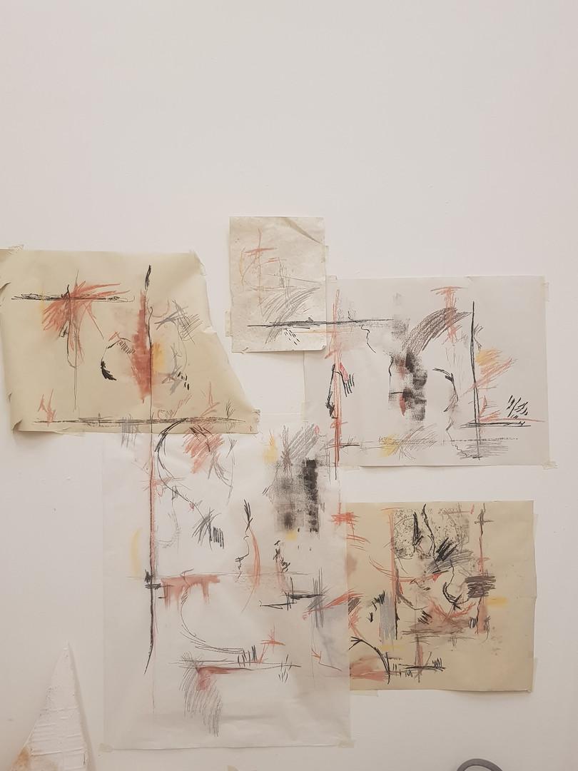 Layered drawings, 2020