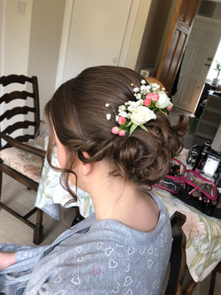 floral hair up