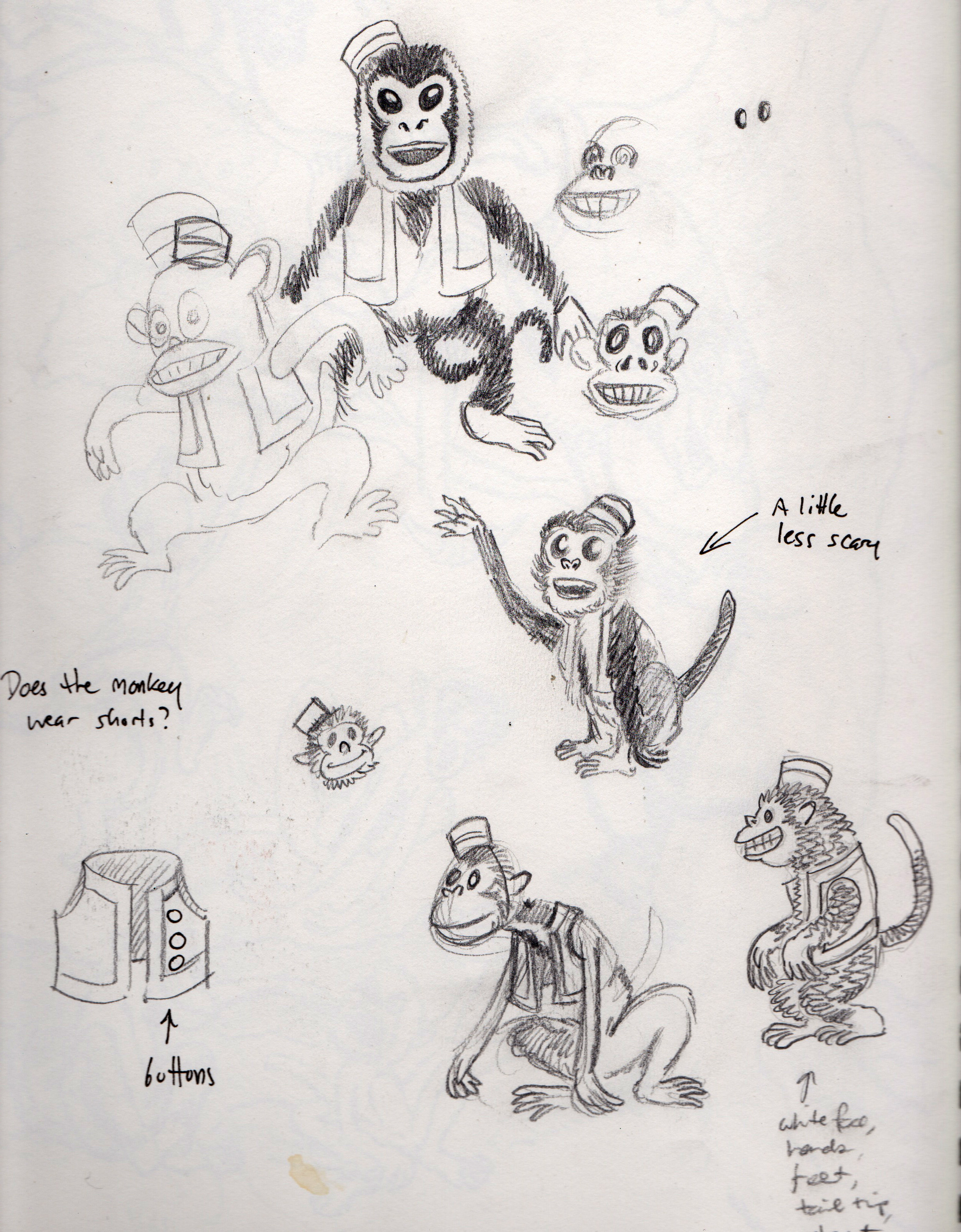 isabella sketchbook monkeys