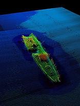 underwater shipweck finding marine survey scan example of tresure hunter 3d ground metal detector view