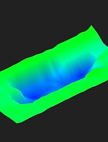 underground cave and water finding scan example of tresure hunter 3d ground metal detector