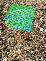 diamonds and gemstone finding scan example of tresure hunter 3d ground metal detector view