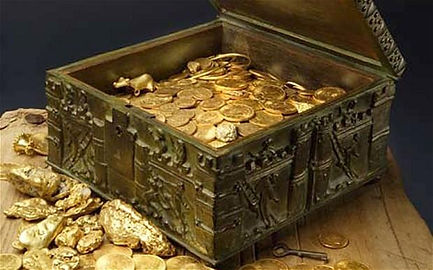 Fenn Treasure hunter 3D gold detector hunting valuable money hunt gold chest view