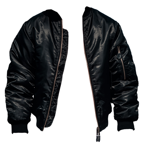 TWO SIMPLE Bomber Black