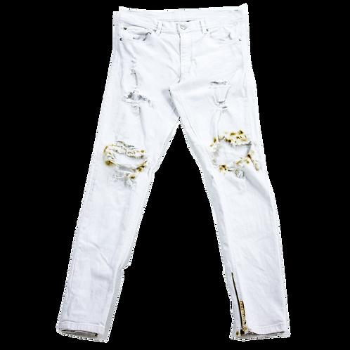 Burned Denim Jeans