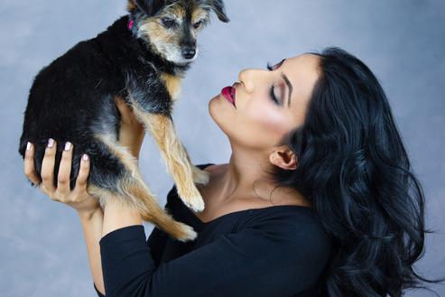 Pet photography with Ami and  Kiri who is Yorkiepoo breed at Vilija Skubute studio