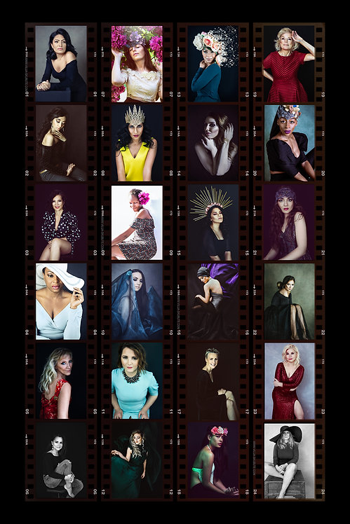 collection of women portraits at vilija skubute photography