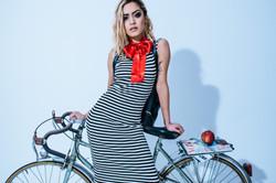 portrait photography of women with bicycle at Vilija Skubute studio