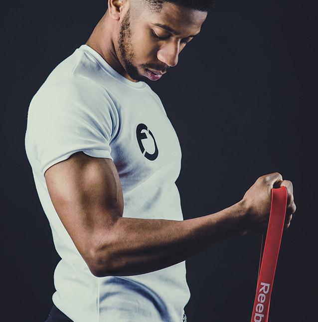 Vibrant studio sports photoshoot for sport brand - Fitcredibles