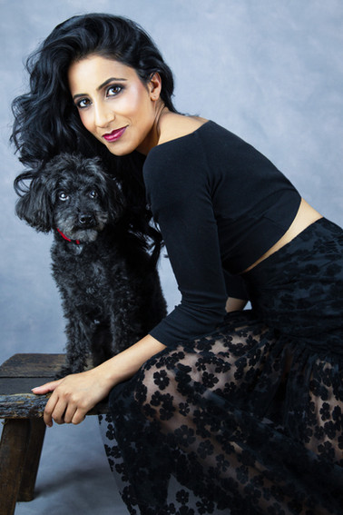 Pet photography with Ami and Tiger who is  Poodle breed at Vilija Skubute studio