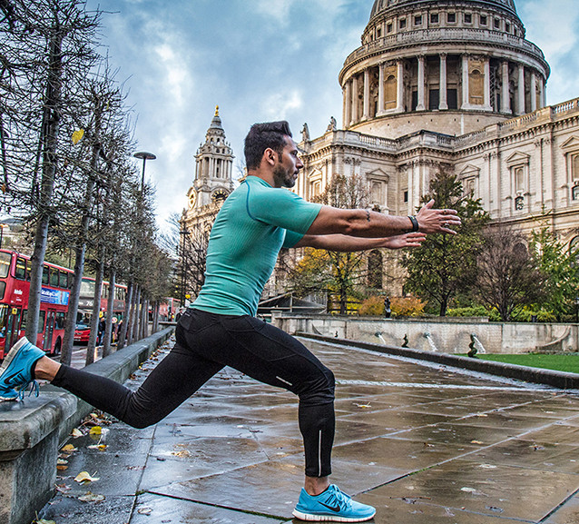 sport photoshoot near St. Paul's Cathedral- London