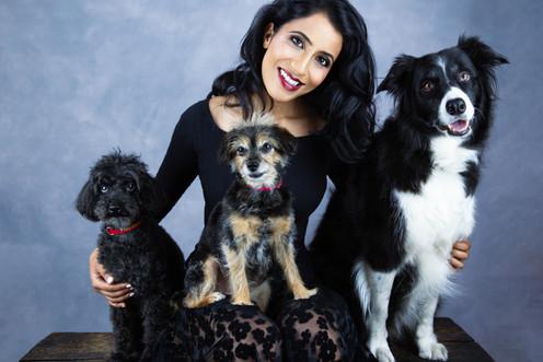 Pet photography with Ami and dogs Tigger, Kiri and Ecko at Vilija Skubute studio