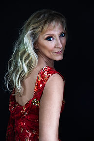 women with a red dress portrait photography