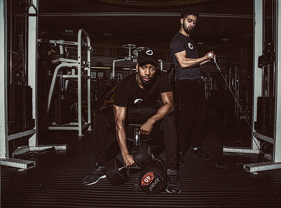 Vibrant sports photoshoot in gym for sport brand - Fitcredibles