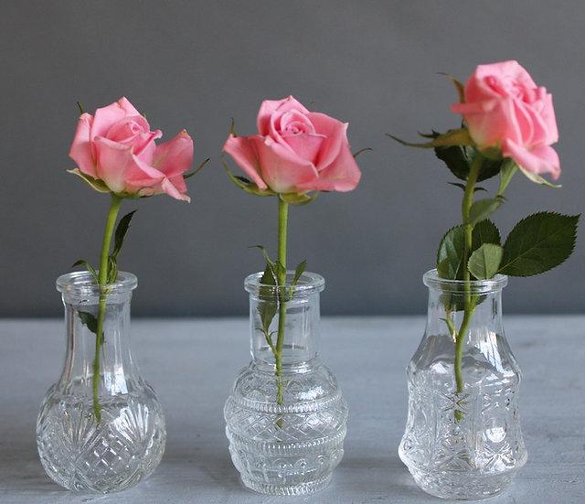 Single Flower Vase Set Of 3