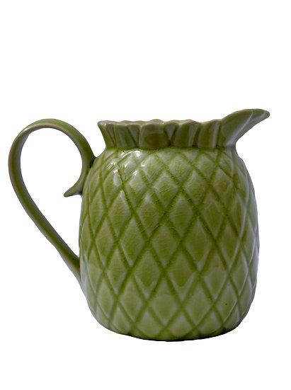 Green Ceramic Pineapple Jug