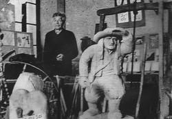 Eugène dans son musée