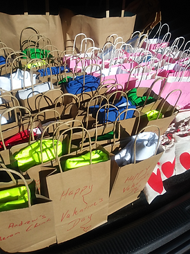 St. Andrew's Lutheran Church Distributes Valentine's Day Care Bags