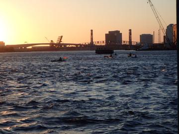 March Equinox Sunset River Swim