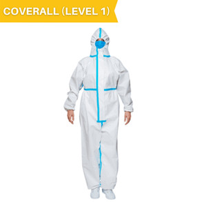 Full Body Coveralls (Level 1) Highly Effective with Excellent Breathability