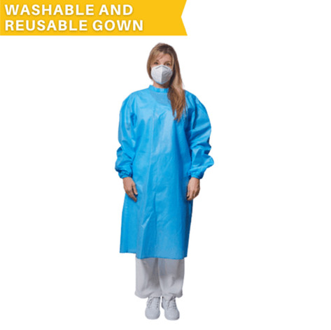 Polypropylene Gown (Washable and Reusable Isolation Gown)