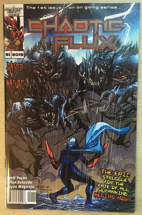 Signed! Chaotic Flux issue #1: Aliens vs Monsters part 1 of 2