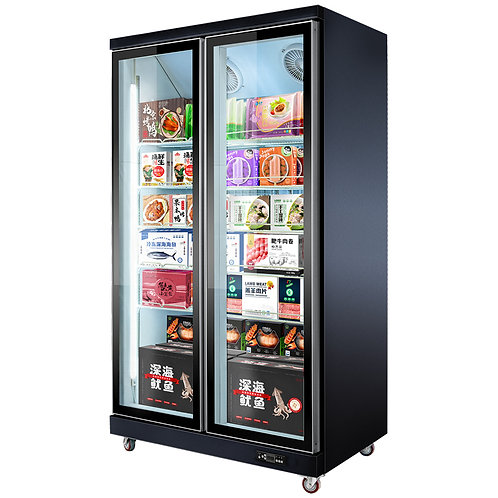 Full screen vertical freezer
