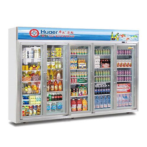5 glass door drink refrigerator ( 0℃ to 10℃ )