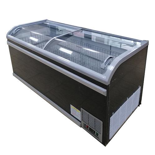 Auto-defrost supermarket freezer