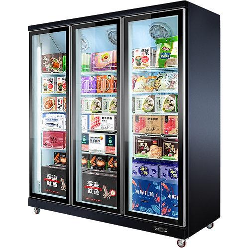 3 doors freezer refrigerator