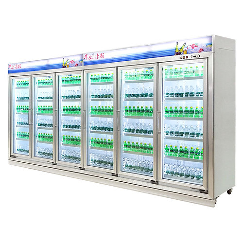 6/7/8 glass door drink refrigerator ( 0℃ to 10℃ )