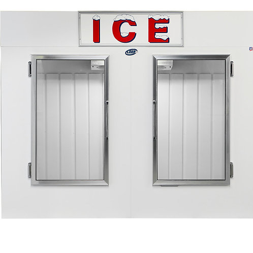 65-100 Cu.ft. capacity Glass Door bagged Ice Box