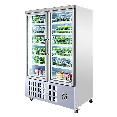 2 heater glass doors fridge