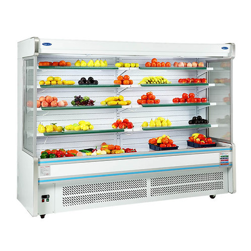 Vegetables  refrigerator with air curtain