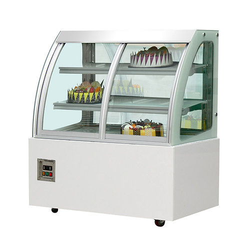 Cake display fridge with front doors