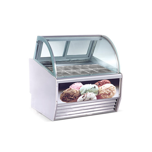 Ice cream gelato display freezer
