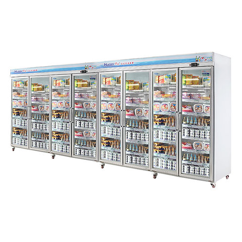 8 doors upright display freezer (-18℃ to 22℃)